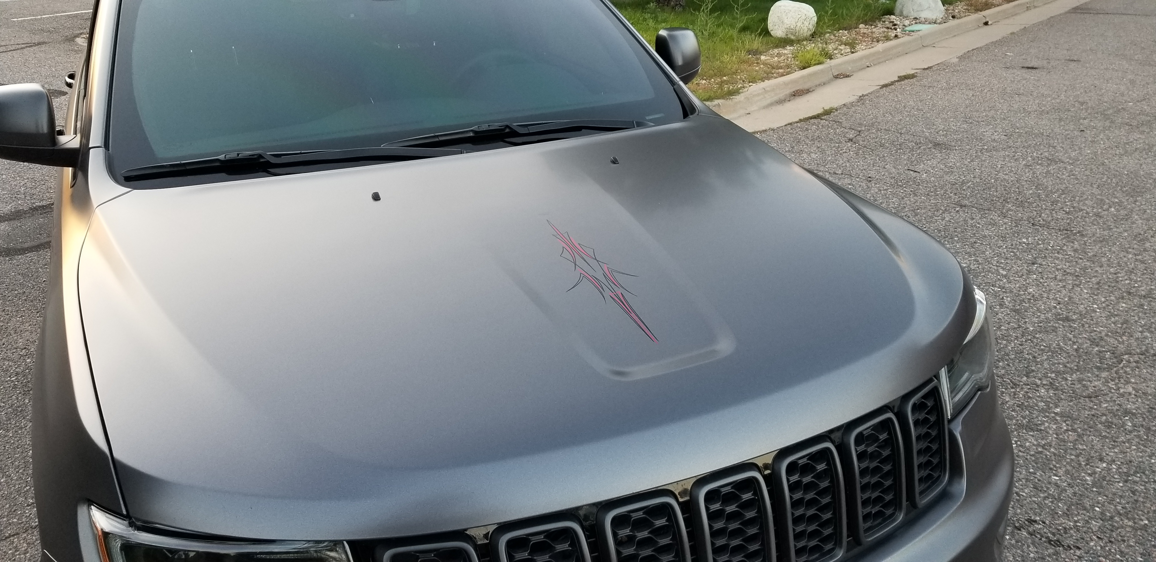 That's so cool, I'm getting it Tattooed! Satin Dark Grey Jeep Grand Cherokee Wrap